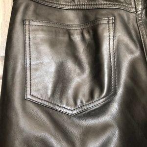 Jeans - Like New Men's Leather Pants Worn 1x Size 32 Waist